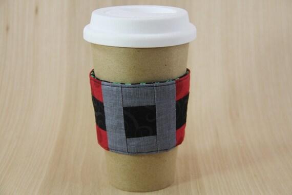 Santa's Belt Coffee Cup Sleeve - Christmas - Ready to Ship