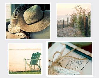 Special, Coastal Collection Set, Four Individual Prints, Two 11x14 and Two 12x12 prints, Fine Art Photography, Cottage Light Studio