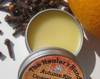 Autumn Kiss Organic Lip Balm ~ Screw Top Tin ~ .5oz