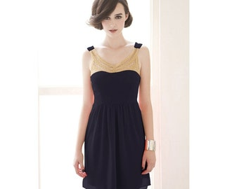 Cleo's Blue Dress in Gold