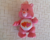 Vintage Care Bears Love a Lot Bear Poseable PVC