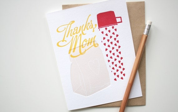 Happy Mothers Day - Thanks, Mom - Letterpress