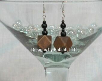 Wooden Drop Earrings