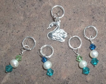 Swan Stitch Markers for knitting