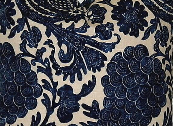 Navy Blue and Beige 12 x 18 Lumbar Decorative Pillow Accent
