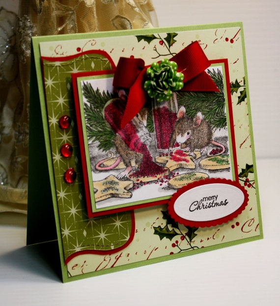 Custom Merry Christmas Greeting Cards: Christmas Card Handmade Greeting Card Merry Christmas