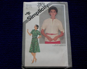 Dress or Top Size 18 & 20 Pattern Jiffy Simplicity
