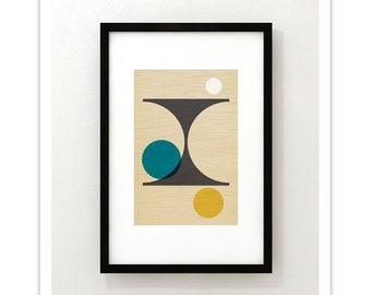PER FORMARE no.2 - Giclee Print - Mid Century Modern Danish Modern Style Minimalist Modernist Eames Abstract