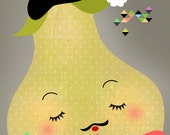 Nice Pear-Illustration-High quality art print-limited edition of 50