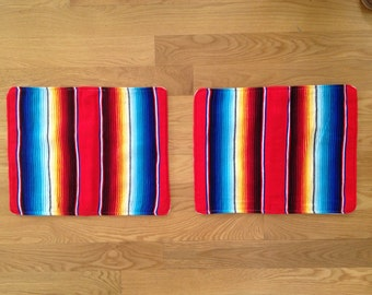 vintage boho ethnic textile placemats or pillowcases