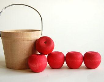 Wooden -Waldorf- Kids -Toy-Wood Toy- Autumn Harvest Apples