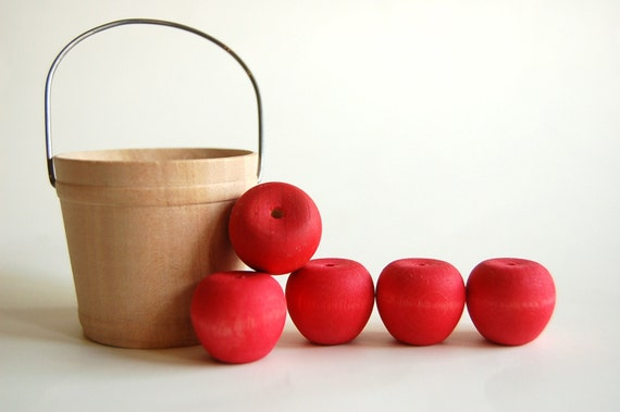 wooden apple set