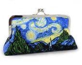 Starry Night - Large Clutch
