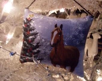 Primitive Folkart Lavender Sachet Woodland Pillow Ornament   LJO Collection  We Ship Internationally