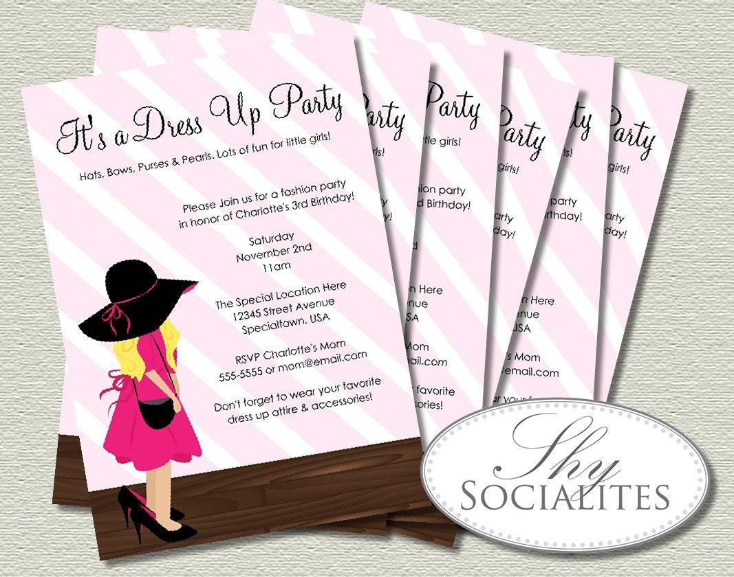 Dress up invitation – Dress Up Party Invitations