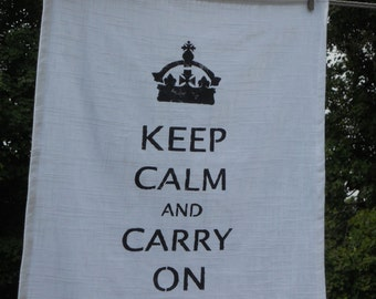 Keep Calm and Carry On - Dish Towel - 25L X 19W