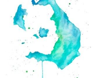 5x7 or 8.5x11 - Santorini Love