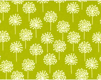 Pure Bursts Fabric in Green and White by Stof - 1 Yard