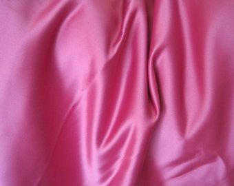 "Fuchsia Uphostery Fabric - Thick Satin Fabric - Hot Pink Satin Fabric - Extra Wide - Remenant - 112"" x 90 1/2"""