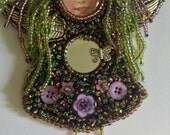 Dread beaded angel doll brooch