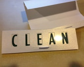 Two Colored Type, Clean Dirty Dishwasher Magnet Sign, Green and Red
