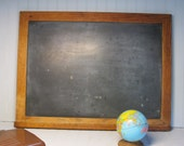 Vintage Chalk Board - Charrette - Oak Frame - School House -  Weddings - Kitchen