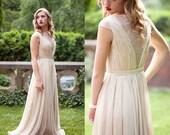 Smoked Peach lace wedding dress