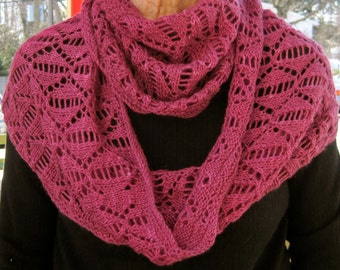 Knit Cowl Pattern:  Dreaming of Spring Lace Cowl/Infinity Scarf Knitting Pattern