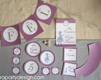Sofia the First Inspired Princess Party Printable Collection- Entire Collection by Fara Party Design