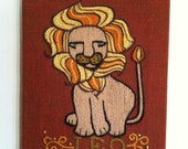 Leo Crewel Wall Hanging - Reserved for Ross