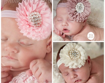 Baby Headband SET of 3, Baby Headbands,Baby girl Headband,Newborn Headband,Baby Headbands, Baby girl Headband,headband, Hair Bows
