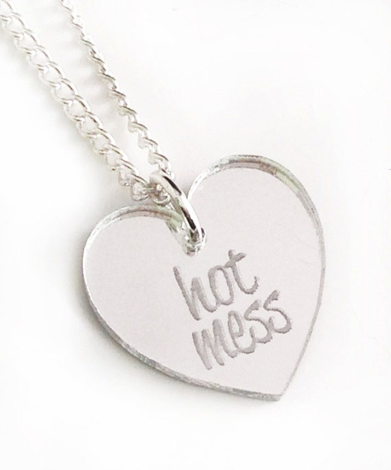 Hot Mess Necklace - Silver