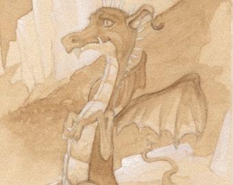 Brown Dragon 5x7 Print