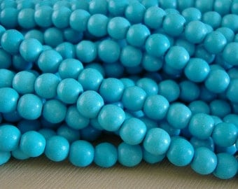 Natural Turquoise  Round Beads  6mm About 16 Inch.