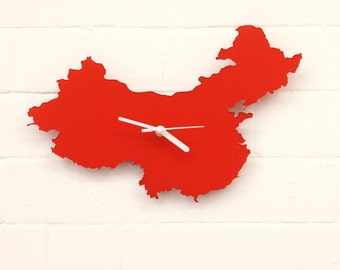China Clock (Red)