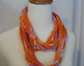 Infinity Necklace scarf upcycled