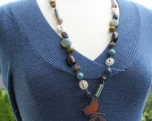 Reserved for Jojie- Rusted Wings- Artisan Handcrafted Necklace