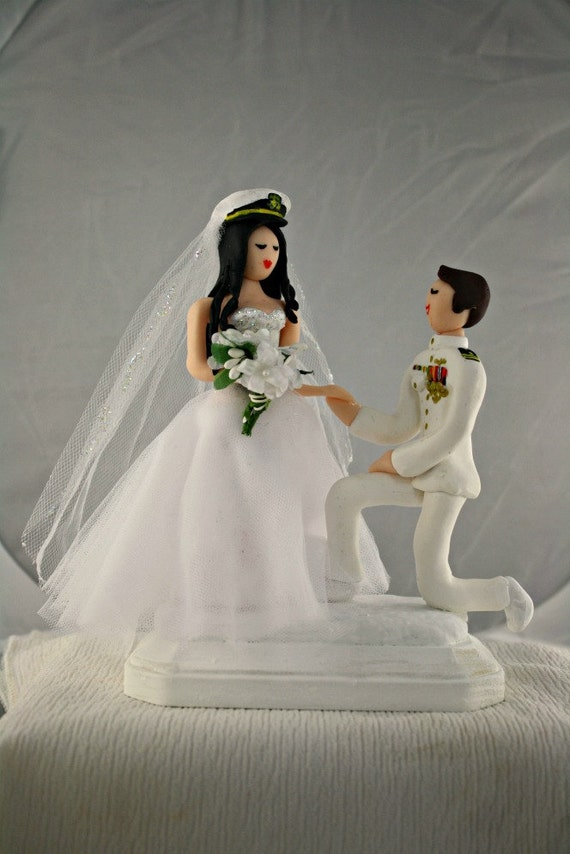 Military Wedding Cake Topper Customized To Your Features And