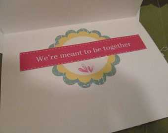 CLEARANCE Meant To Be Together card