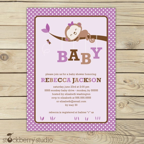 product search baby shower,monkeys  catch my party, Baby shower invitation