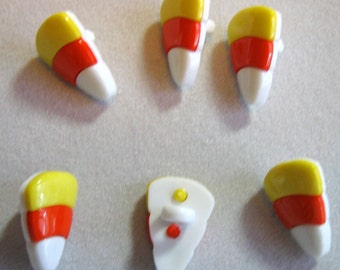 Candy Corn Buttons - Small