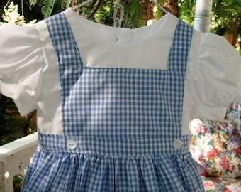 Girl's Dorothy Wizard of Oz Dress -   Custom Order - Girls Sizes 2 - 12