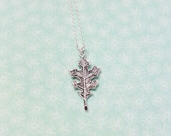 Leaf Charm Necklace - Silver Leaf Pendant Necklace