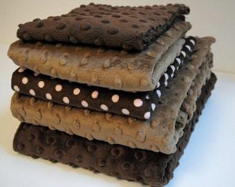 Minky Scrap Pack - Brown Mix