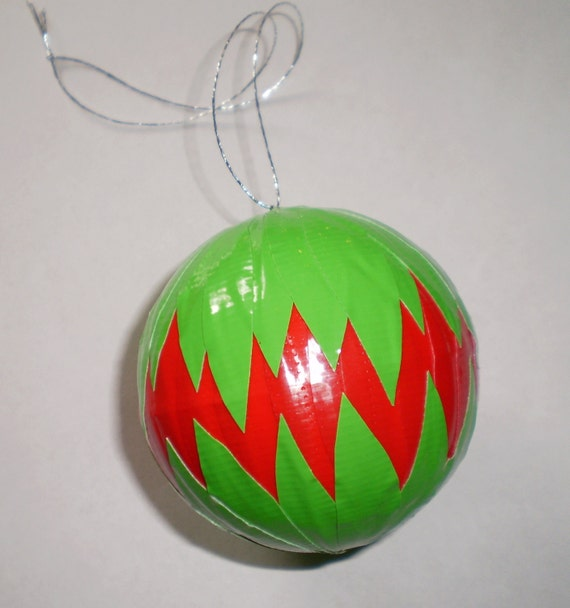 Items Similar To Duct Tape Christmas Ornament Red And