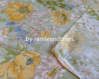 "flora print cotton fabric, fine cotton fabric, half yard by 43"" wide"