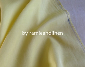 "silk fabric, goose yellow silk cotton blend twill fabric, half yard by 44"" wide"