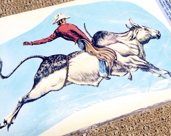 Vintage Retro Bronco Sticker Appliqué