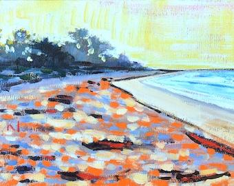 Santa Barbara Beach Painting Landscape Carpinteria
