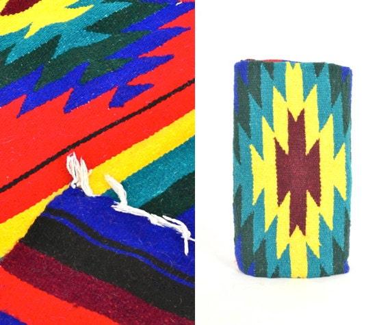 """SALE • Wool Mexican Blanket / Rug 83"""" x 49"""""""